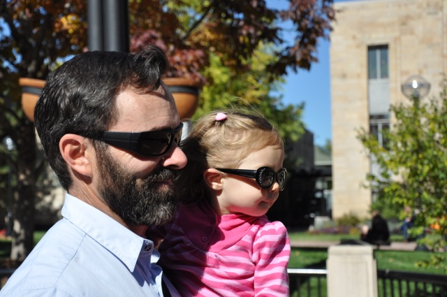 Daddy and Daughter with their stylish shades.
