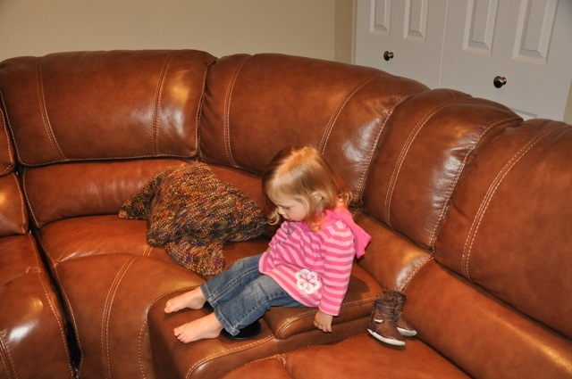 She loved climbing all over this couch!