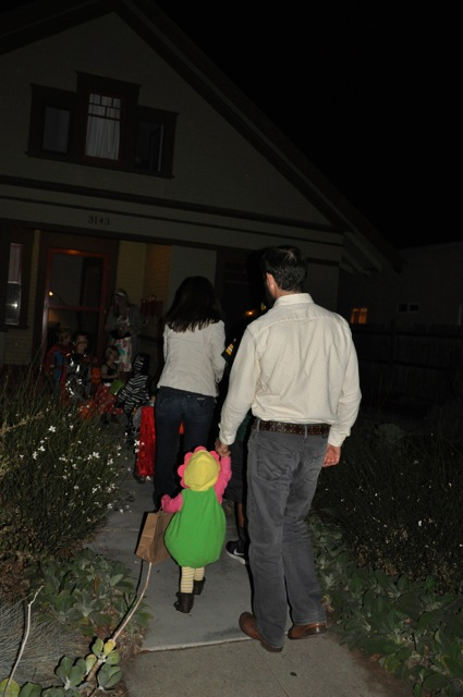 First time trick-or-treating!