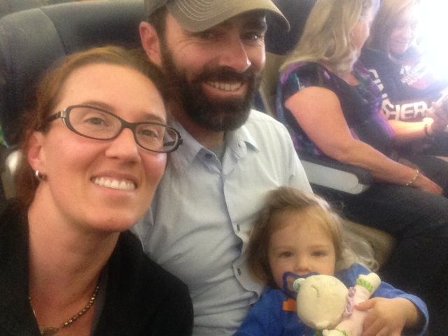 First family plane ride.