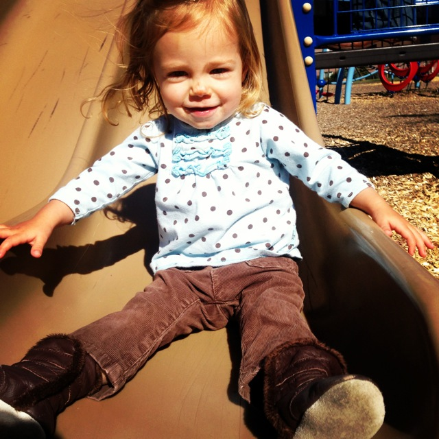 Hitting the park slide!