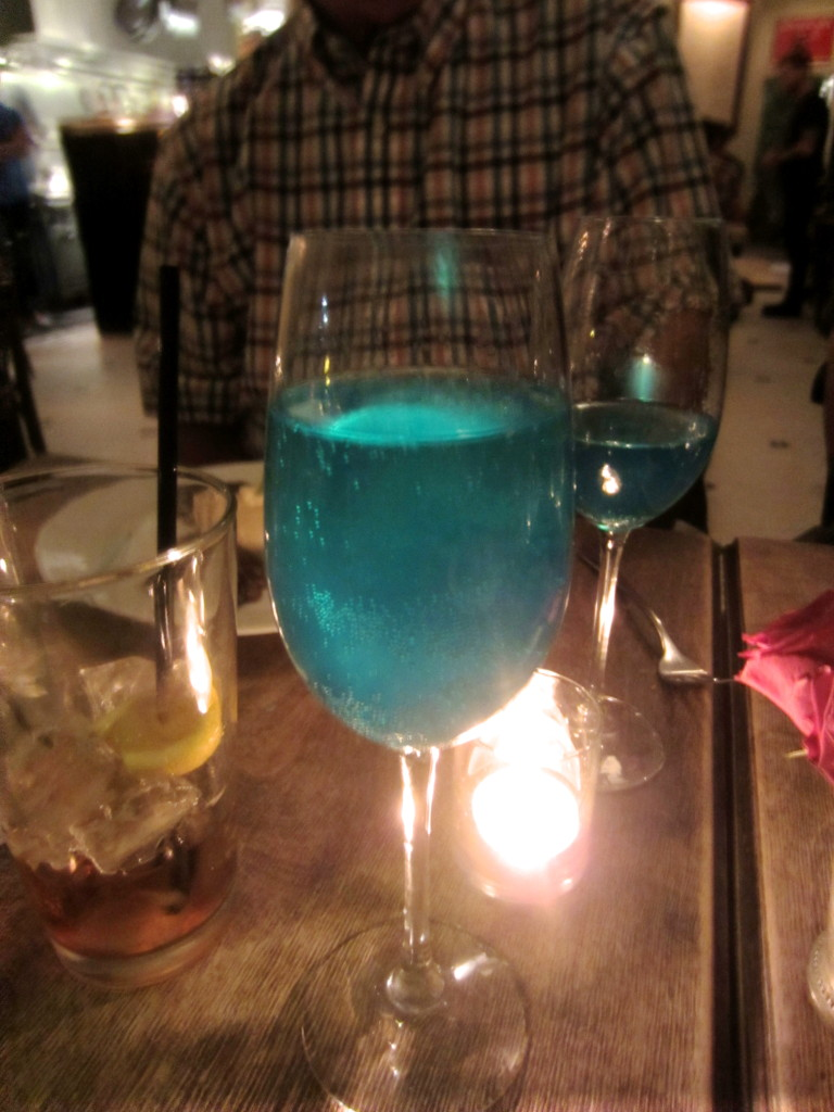 Fancy Electric Blue Drinks