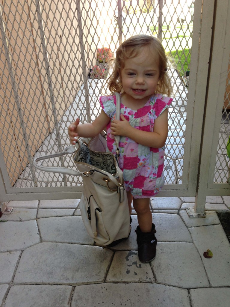 I love my boots and Momma's handbag. Accessories are where it's at!