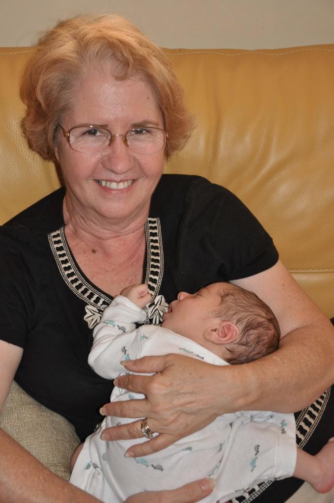 Granny holding Cecito