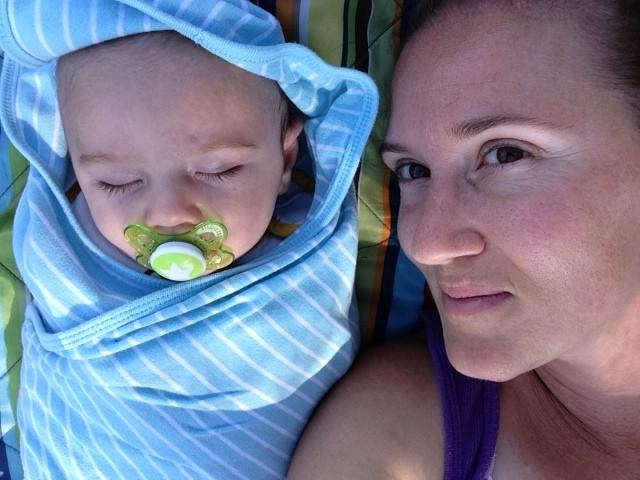 Napping at the park.