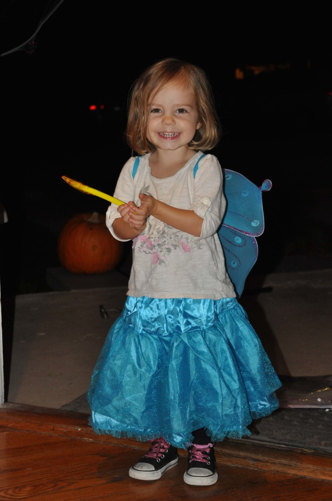 Our little fairy! With a twinkle star wand.