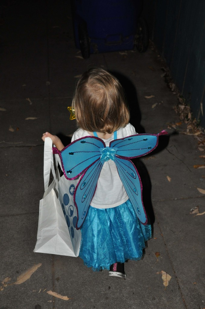 She just learned who Tinker Bell was, so that's what she called herself.