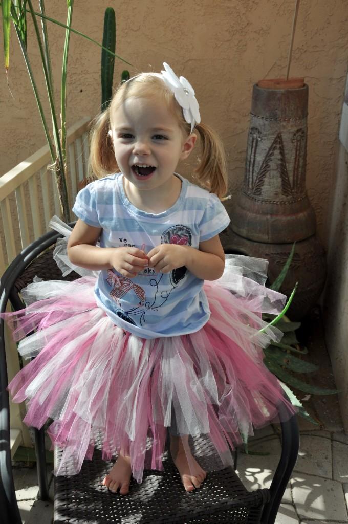 Sweet girl in a tutu!