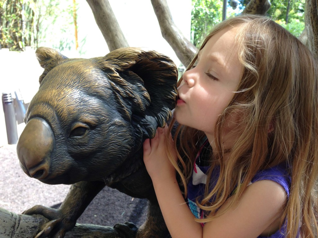 We always have time for a kiss with the koala.