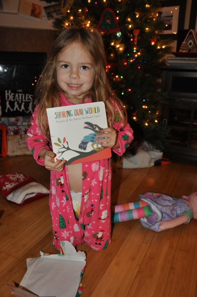 She loved her book from Bi-Nana!