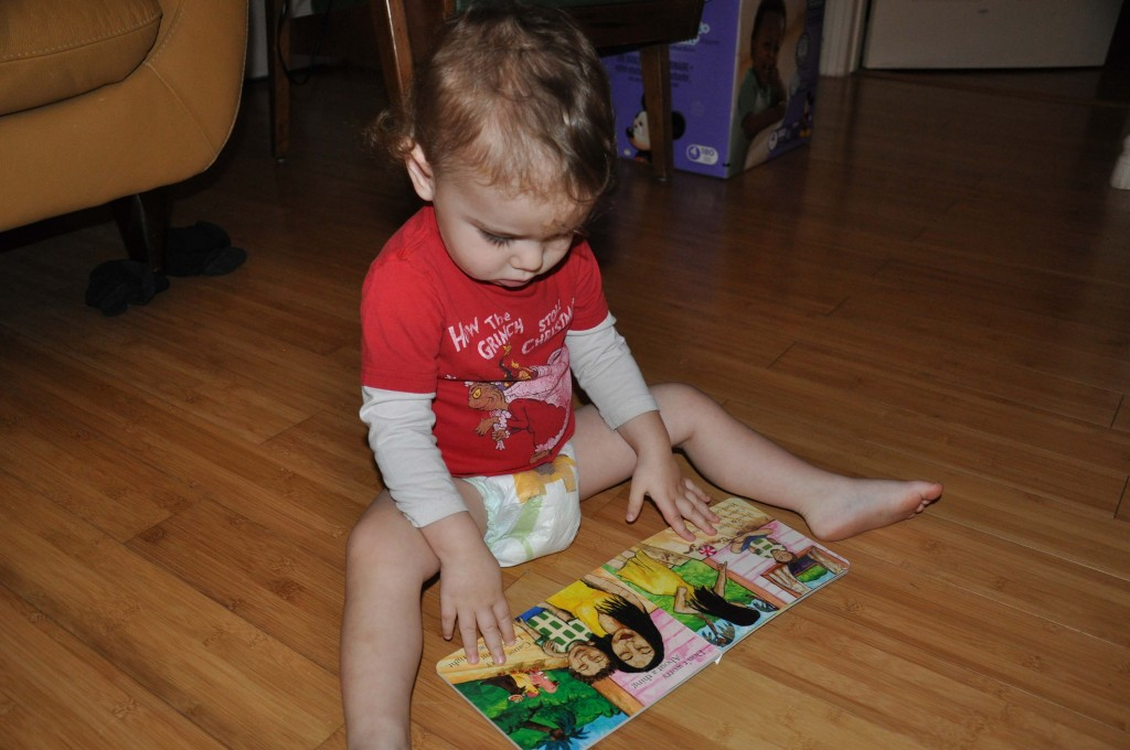 """Cecito loved his Three Little Birds book, too! We now listen to Bob Marley for the """"Gonna Be Alright"""" song all the time. Thanks Bi-Nana!"""